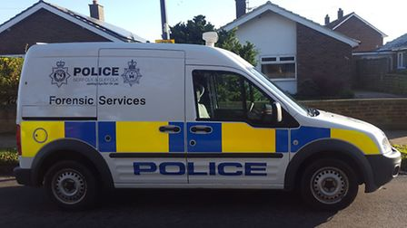 A police forensics van was spotted in Holbrook today following a spate of burglaries in the area. St