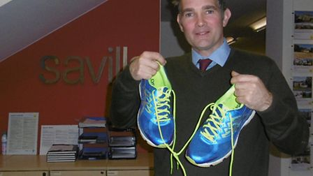 Ipswich estate agent Tom Orford who is running the London Marathon in April to raise funds for The