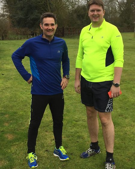 Tom Orford is preparing to run the London Marathan for cancer charity the Lymphoma Association Here