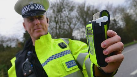 Julian Ditcham with the Drager Alcotest used by Suffolk Constabulary. Pic Archant