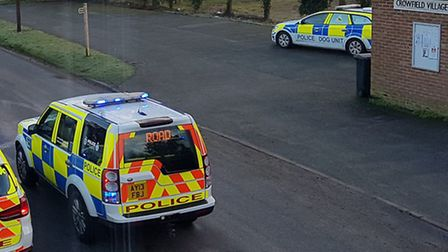 The scene of a stand-off in Crowfield. Image: Glen Marney