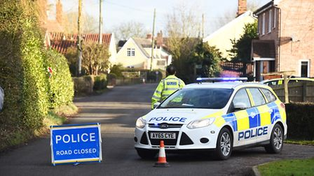 Police sealed off Stone Street in Crowfield after concerns for the welfare of a man at a property in