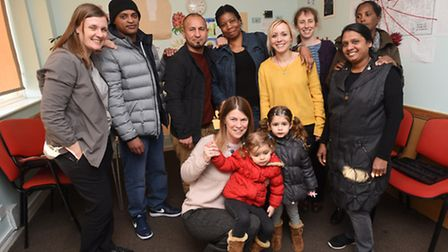 Staff and clients at Suffolk Refugee Support celebrate the grant win.
