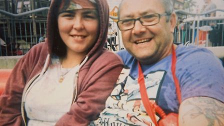 Emma King with her step-father Shaun Green