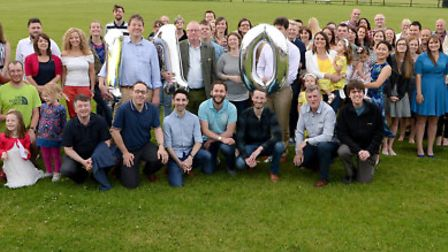 Staff and their families celebrated Prettys 110th anniversary with a summer garden party