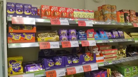 Easter eggs are on the shelves already. Photo by Julie Kemp