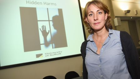 The 2017 Hidden Harms conference at the University of Suffolk. Pictured: Dr Emma Bond, University of