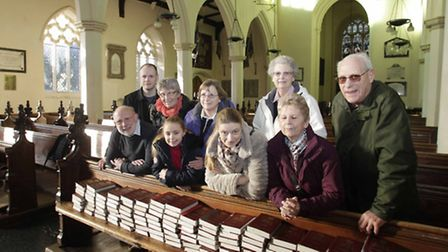 Bell ringers Dan Armstrong, Roger Coley, Margaret Llewellyn, Saffron Burdett, Angie Cable, Laura Arm