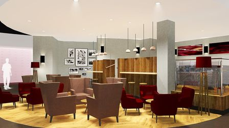 An artist's impression of the foyer to the new Empire Cinema in Ipswich. Picture: EMPIRE CINEMAS