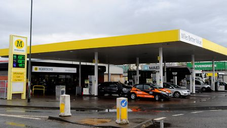 Morrisons Petrol Station at Sproughton, Ipswich