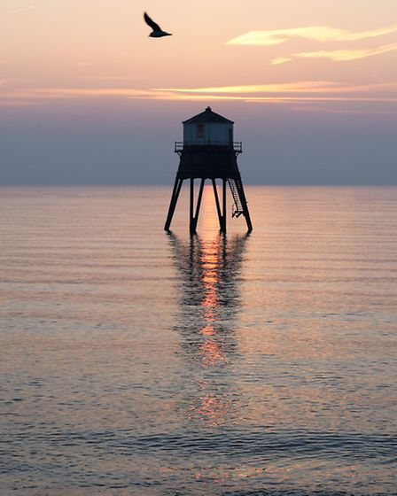 Beautiful sunrise on the coast at Dovercourt Bay. By Valerie Jarvis.
