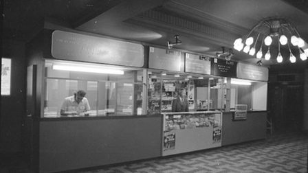 The foyer area of the ABC Cinema in Ipswich. Photo taken in June 1973