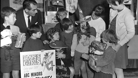 Children show off their work at the Guy Fawkes competition at the ABC Cinema in Ipswich in 1969