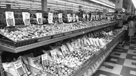 Woolworths gardening section of the store. October 1972.