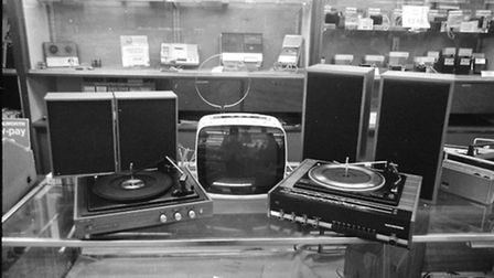 A home stereo system for sale at Woolworths, December 1973