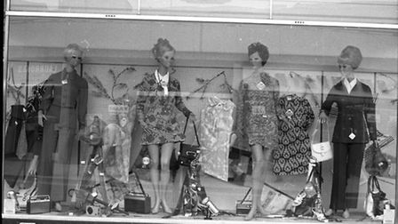 Woolworths window display from March 1972