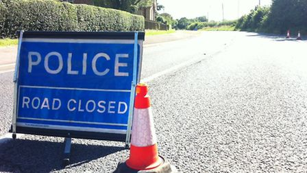 Woodbridge Road in Rushmere St Andrew was closed after a three-car crash