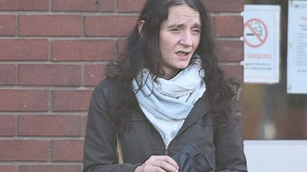 Michelle Burrows leaving Ipswich Magistrates Court