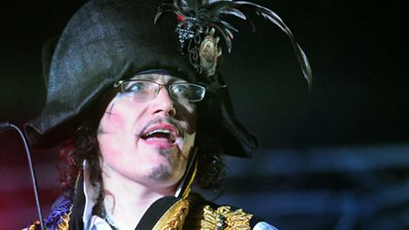 Adam Ant on stage in the Word Arena at the Latitude Festival on Saturday. The singer's Facebook page