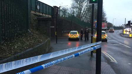 The scene of a fatal stabbing in Ancaster Road, Ipswich. Picture: Emily Townsend
