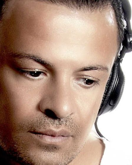 DJ Michael Andre, brother of Peter Andre, performing a set at Bowmans Club, Ipswich