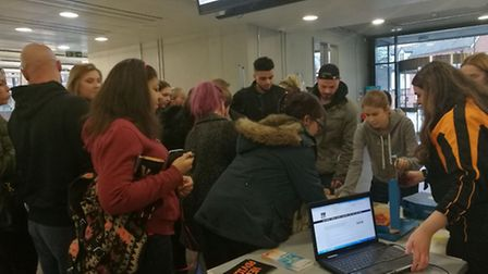 Free pizza at the University of Suffolk as part of the Students' Union Boost random acts of kindness