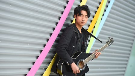 Music student Albert Dela Cerna, who has taken on the mantle of organising a live music event for lo