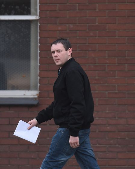 James Ward leaving Ipswich Magistrates Court.