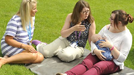 A breastfeeding picnic last summer. Picture: Sarah Lucy Brown