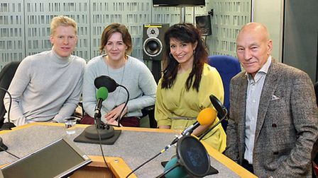 Teapot Project co-founder Mischa Pearson (second left) in the BBC Radio 4 Midwekk studio with fellow
