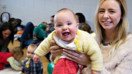Eight-month old Violet and her mum Faye attended the new Breastfeeding Network group at Suffolk babi
