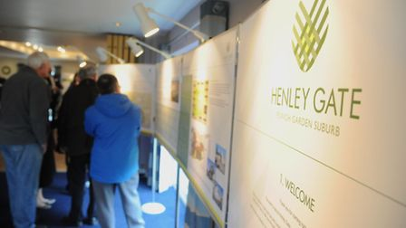 Visitors look at the Henley Gate plans exhibition at Ipswich Sport Club back in 2016