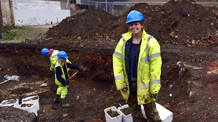 Archaeologists have started work on the oldest part of Ipswich , formerly the St Peter's Warehouse