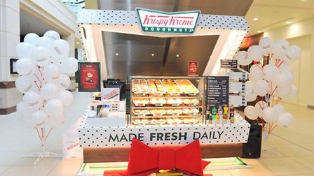 Krispy Kreme's new box store in Buttermarket Shopping Centre . Photograph: Lucy Taylor Photography.