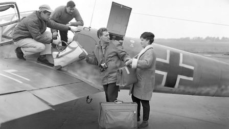 Packing all their bags on board as they travel from Martlesham to the USA in 1969