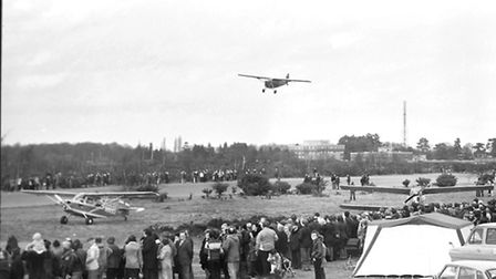 Planes in action for the last flights at Martlesham airfield in 1979