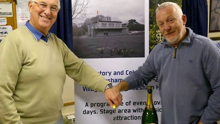 Martlesham Heath Aviation Society chairman Martyn Cook (left) and MH100 chairman Peter Davies (right