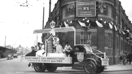 Churchman's had a float in the 1953 Coronation celebrations in Ipswich. The building featured is now