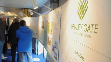 The Henley Gate development plans were shown off at an exhibition last year - but there are strict
