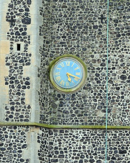 The clock at Quay Place. Picture: Andy Abbott