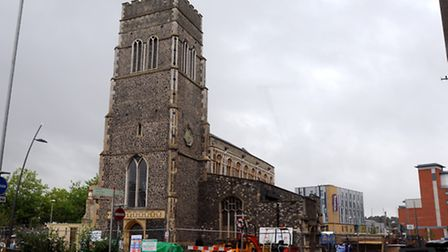 Quay Place, formerly St Mary at the Quay during its renovation. Picture: Simon Parker