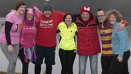 The five runners who won the Great East Run and Archant competition. l-r:Sara Spreadbridge, Tony H