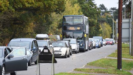 Road works on Main Road (A1214) in Kesgrave - works are back this week but teams will avoid rush hou
