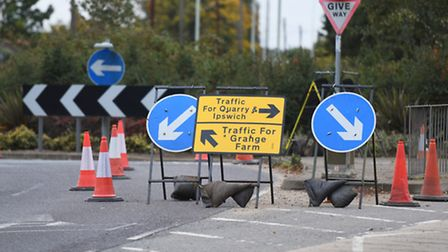 Road works are returning to Kesgrave this week