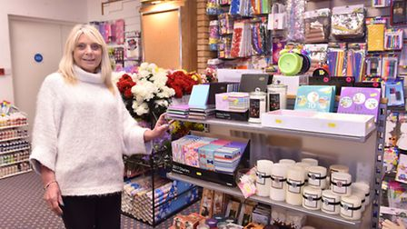 Ann Giles at the new Crafty Cards and Gifts store at Sailmakers Shopping Centre. Picture: James Flet