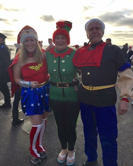 Nichola Whymark at the Christmas Day Dip 2016. Picture: Nichola Whymark