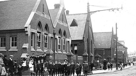 Wherstead Road School which stood between Station Street and Kenyon Street. This photograph was take