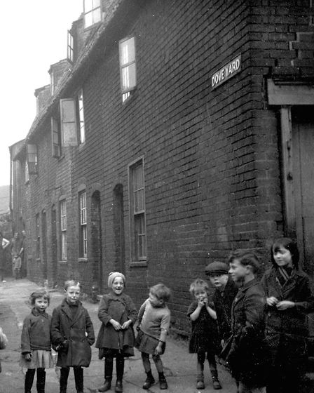 This photograph of Dove Yard gives a good idea of life in The Potteries area of Ipswich. Dove Yard