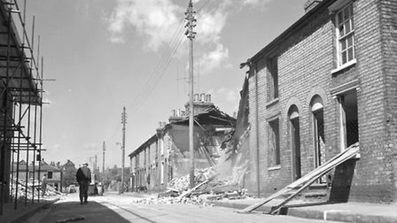 Houses in Charles Street being demolished in August 1966. Picture: DAVID KINDRED