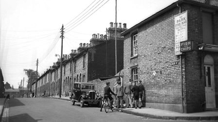 Beck Street, Ipswich in 1934. Picture: Guy Maynard courtesy Colchester and Ipswich Museum Service